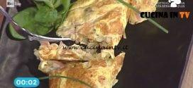 La Prova del Cuoco - Omelette con prosciutto cotto funghi ed edamer ricetta Katia Maccari