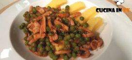 Cotto e mangiato - Polenta con calamari e piselli in umido ricetta Tessa Gelisio