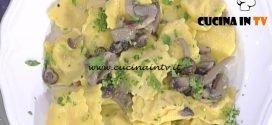 La Prova del Cuoco - Ravioli di patate e mortadella con salsa ai funghi ricetta Alessandra Spisni