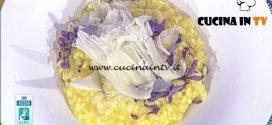 La Prova del Cuoco - Risotto al radicchio zafferano e arancia ricetta Sergio Barzetti