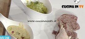 La Prova del Cuoco - Salsa verde con prezzemolo e salsa di pistacchi e arancia ricetta Natale Giunta