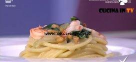 Detto Fatto - Spaghettoni con bieta e gamberi ricetta Ilario Vinciguerra