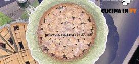 La Prova del Cuoco - Crostata all'olio con biscotto amarena ricetta Natalia Cattelani