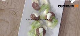 La Prova del Cuoco - Polpette con cipollotti brasati e mozzarella ricetta Mauro Improta