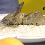 La Prova del Cuoco - Risotto cacio e pepe con carciofi ricetta Sergio Barzetti