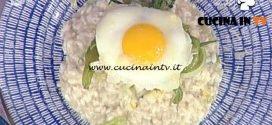 """La Prova del Cuoco - Risotto con puntarelle e uovo al """"cereghin"""" ricetta Sergio Barzetti"""