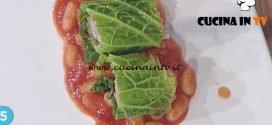 La Prova del Cuoco - Involtini di verza con salsiccia all'uccelletto ricetta Cesare Marretti