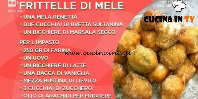 Domenica In - Frittelle di mele ricetta Benedetta Parodi