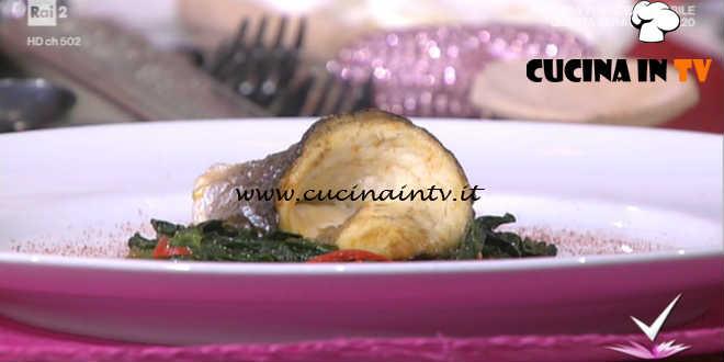 Detto Fatto - Vellutata di zucca con spigola e cicoria ricetta Monica Micheli