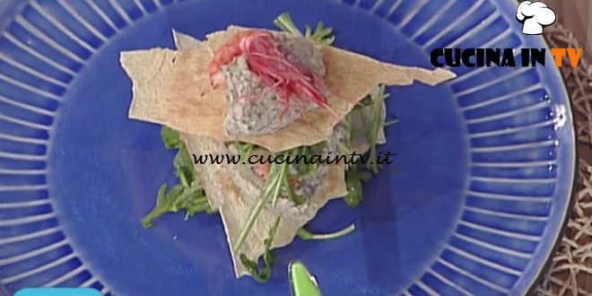 La Prova del Cuoco - Millefoglie di carta musica con carciofi gamberi e rucola ricetta Ivano Ricchebono