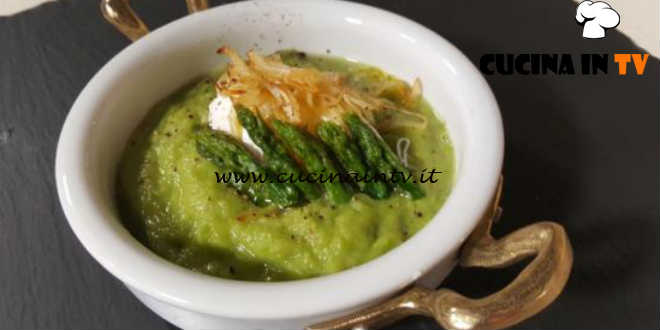 Cotto e Mangiato | Crema di asparagi con uova in camicia ricetta Tessa Gelisio