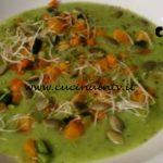 Cotto e mangiato - Crema di zucchine con verdure croccanti ricetta Tessa Gelisio
