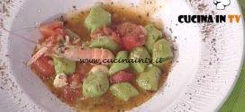La Prova del Cuoco - Gnocchi al prezzemolo con scampetti e polvere di capperi ricetta Natale Giunta