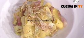 La Prova del Cuoco - Mezze maniche alla carbonara di carciofi ricetta Riccardo Facchini