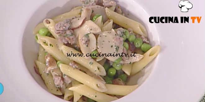 Prova del Cuoco   Pennette con funghi salsiccia e piselli ricetta Marsetti
