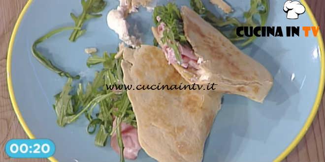 Prova del Cuoco   Piadina con mortadella patate robiola e rucola ricetta Improta