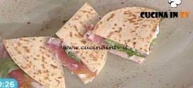 La Prova del Cuoco - Piadina con prosciutto crudo stracchino e rucola ricetta Katia Maccari