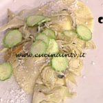La Prova del Cuoco - Ravioli alla menta con zucchine fritte e carciofi ricetta Ambra Romani