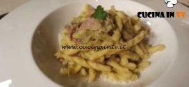 Cotto e mangiato - Strozzapreti con crema di carciofi e speck ricetta Tessa Gelisio