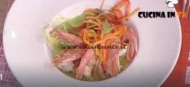 La Prova del Cuoco - Crema di piselli con code di gambero e verdurine ricetta Francesca Marsetti