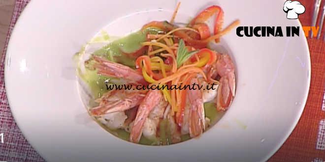 Prova del Cuoco | Crema di piselli con code di gambero e verdurine ricetta Marsetti