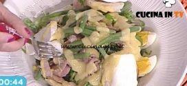 La Prova del Cuoco - Insalata nizzarda con fagiolini e crostini di pane al formaggio ricetta Riccardo Facchini