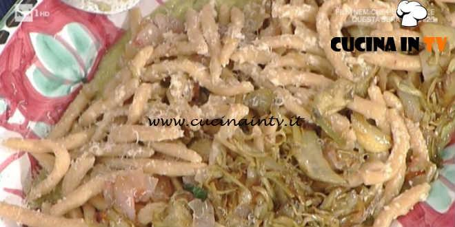 La Prova del Cuoco - Maccheroncini al ferretto con carciofi pancetta e pecorino ricetta Anna Moroni
