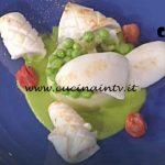 La Prova del Cuoco - Medaglione di patate e piselli con seppie e calamari ricetta Gian Piero Fava