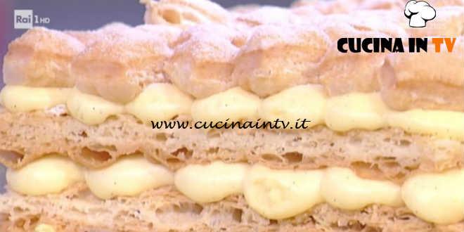 Prova del Cuoco | Millefoglie alla vaniglia e gocce di cioccolato ricetta De Riso