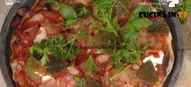 La Prova del Cuoco - Pizza con ventricina ricotta olive ed erbe selvatiche ricetta Gabriele Bonci