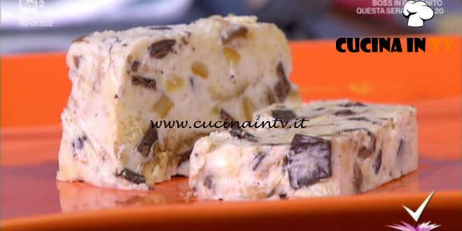 Detto Fatto | Semifreddo ricotta colomba e cioccolato ricetta Luca Bonafini