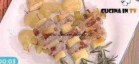 La Prova del Cuoco - Spiedini di maiale con le mele ricetta Cristian Bertol