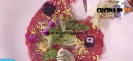 La Prova del Cuoco - Carpaccio con insalatina di asparagi ricetta Gian Piero Fava