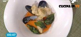 La Prova del Cuoco - Cozze fritte con colis di pomodoro e quenelle di patate ricetta Gian Piero Fava