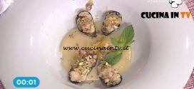 La Prova del Cuoco - Cozze gratinate al limone e pistacchio ricetta Natale Giunta