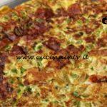 Cotto e mangiato - Frittata piselli zucchine e scamorza ricetta Tessa Gelisio