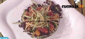 La Prova del Cuoco - Insalata di riso venere pomodorini e zucchine fritte ricetta Francesca Marsetti