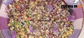 La Prova del Cuoco - Insalata di riso viola rosso e bianco ricetta Sergio Barzetti