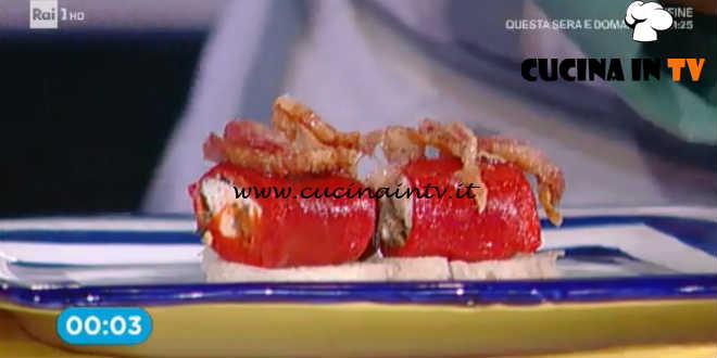 Prova del Cuoco | Involtini di peperoni con caprino capperi e olive ricetta Romani