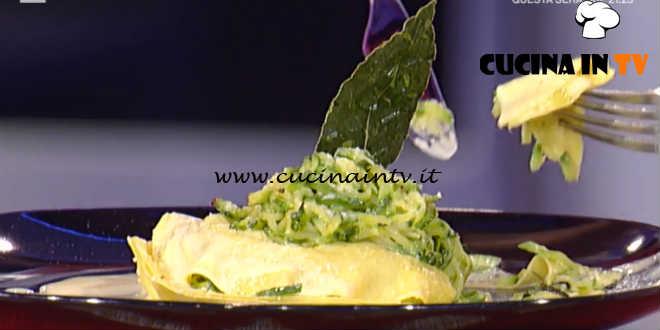 Prova del Cuoco | Lasagnetta aperta con zucchine e maggiorana ricetta Maccari