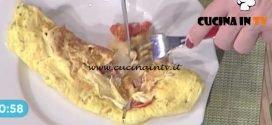 La Prova del Cuoco - Omelette al prezzemolo con pomodorini e prosciutto cotto ricetta Roberto Valbuzzi