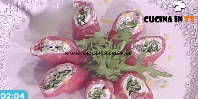 Prova del Cuoco   Roll di carpaccio con formaggio cremoso e rucola ricetta Marsetti