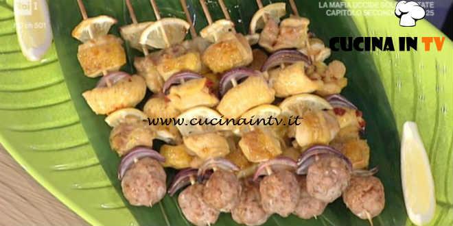 La Prova del Cuoco - Spiedini di pollo grigliati ricetta Hirohiko Shoda