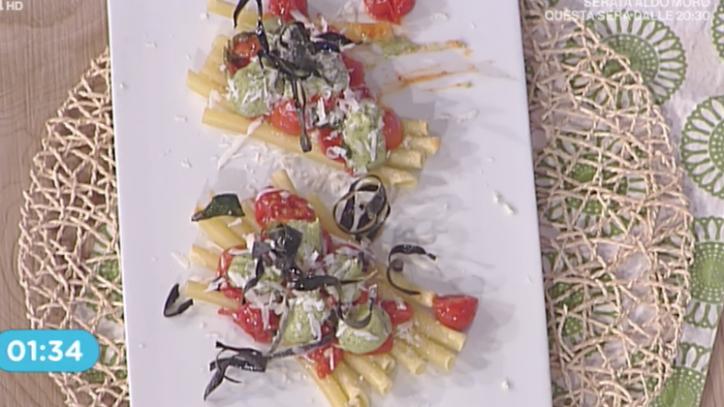 La Prova del Cuoco - Ziti alla Norma con pesto di melanzane ricetta Mauro Improta
