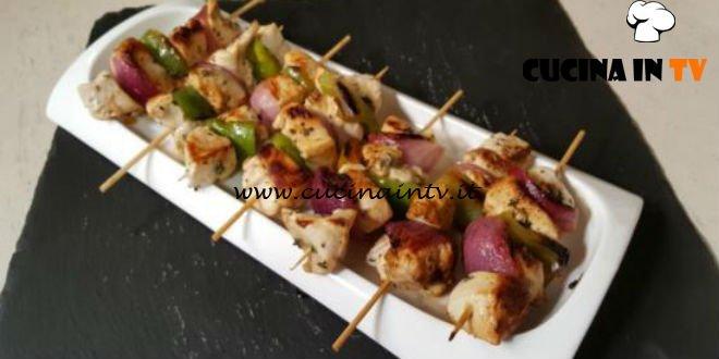 Cotto e Mangiato | Spiedini di pollo con peperone e lime ricetta Tessa Gelisio