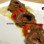 Masterchef Italia 7 - ricetta Carpaccio di sottofesa marinato con miele, erbe e salsa Worchester con crema di sedano rapa di Marianna Calderaro