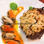 Masterchef Italia 7 - ricetta Carré d'agnello e cozze di Marianna Calderaro