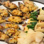 Masterchef Italia 7 - ricetta Cozze gratinate con involtini vegetariani e mela verde al balsamico di Giovanna Rosanio