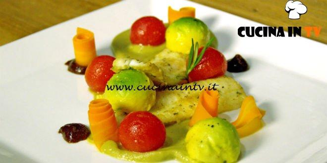Masterchef Italia 7 - ricetta Filetto di sogliola su crema di melanzana e avocado e salsa di prugne di Antonino Bucolo