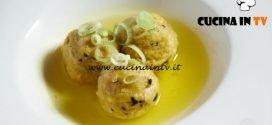 Masterchef Italia 7 - ricetta Gnocchi di pane all'aji amarillo con brodo di gallina di Michele Sardo